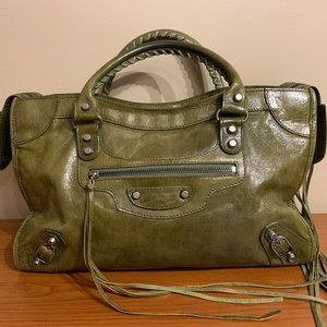 💕BALENCIAGA City Bag Leather Italian